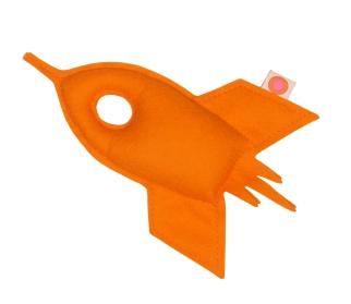 Rassel Rakete orange