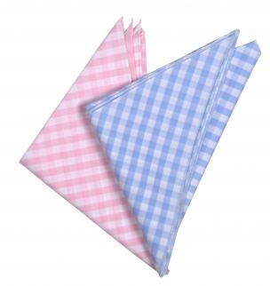 Kopftuch 3-eckig rosa / hellblau