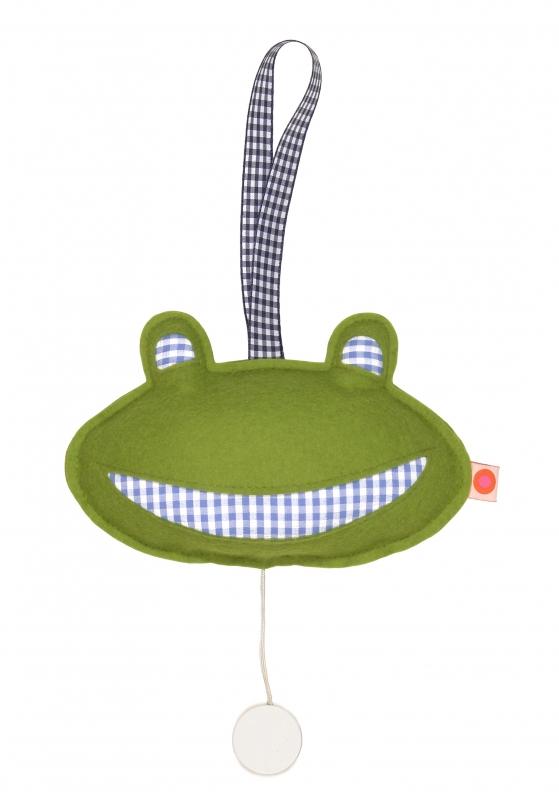 Spieluhr Frosch / blau